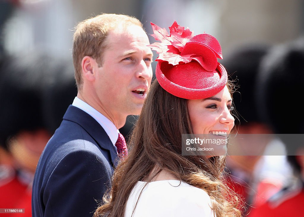 <a gi-track='captionPersonalityLinkClicked' href=/galleries/search?phrase=Prince+William&family=editorial&specificpeople=178205 ng-click='$event.stopPropagation()'>Prince William</a>, Duke of Cambridge and <a gi-track='captionPersonalityLinkClicked' href=/galleries/search?phrase=Catherine+-+Duchess+of+Cambridge&family=editorial&specificpeople=542588 ng-click='$event.stopPropagation()'>Catherine</a>, Duchess of Cambridge arrive at Parliament Hill for Canada Day Celebrations on July 1, 2011 in Ottawa, Canada. The newly married Royal Couple are on the second day of their first joint overseas tour. Ottawa is the start of a 12 day visit to North America which will take in some of the more remote areas of the country such as Prince Edward Island, Yellowknife and Calgary. The Royal couple will be joining millions of Canadians in taking part in today's Canada Day celebrations which mark Canada's 144th Birthday.