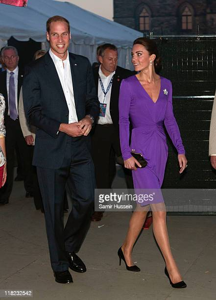 Prince William Duke of Cambridge and Catherine Duchess of Cambridge attend the Evening National Canada Day Celebrations on day 2 of the Royal...