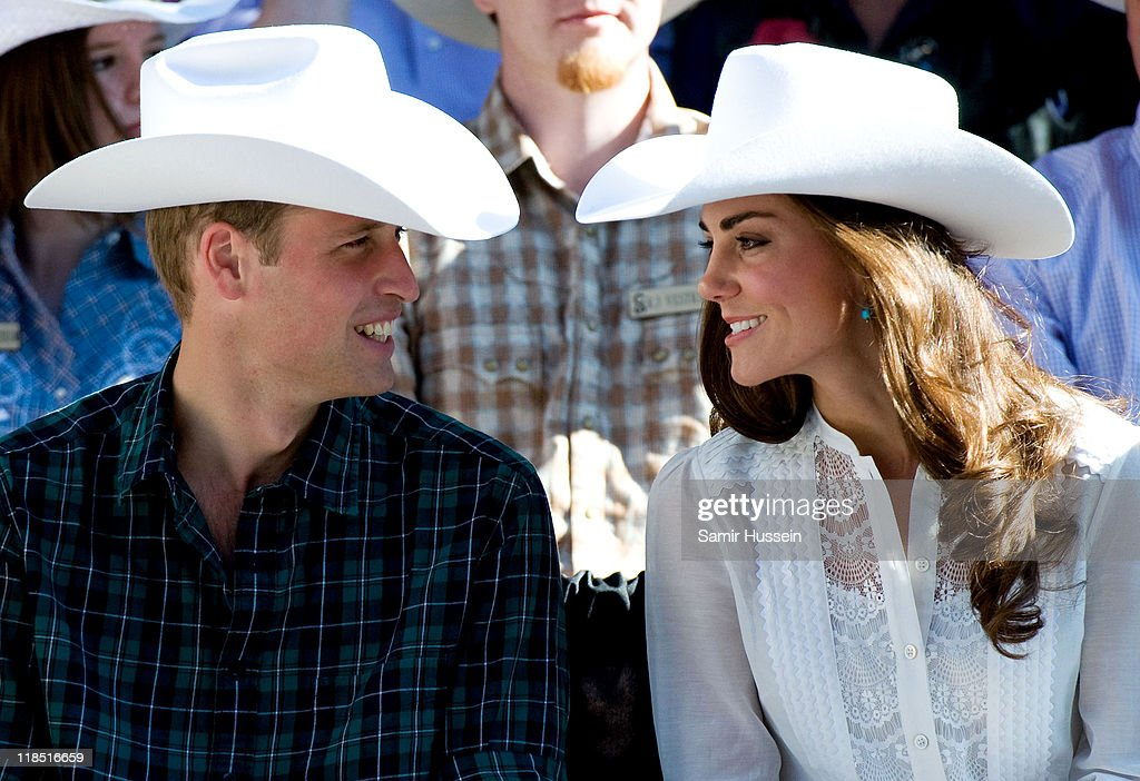 <a gi-track='captionPersonalityLinkClicked' href=/galleries/search?phrase=Prince+William&family=editorial&specificpeople=178205 ng-click='$event.stopPropagation()'>Prince William</a>, Duke of Cambridge and <a gi-track='captionPersonalityLinkClicked' href=/galleries/search?phrase=Catherine+-+Duchess+of+Cambridge&family=editorial&specificpeople=542588 ng-click='$event.stopPropagation()'>Catherine</a>, Duchess of Cambridge attend the Calgary Stampede on day 9 of the Royal couple's tour of North America on July 8, 2011 in Calgary, Canada.