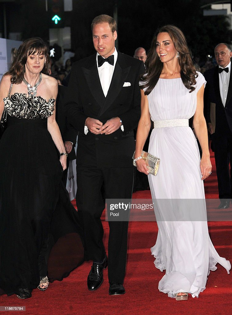 Prince William Duke of Cambridge and Catherine Duchess of Cambridge arrive at the 2011 BAFTA Brits To Watch Event at the Belasco Theatre on July 9...