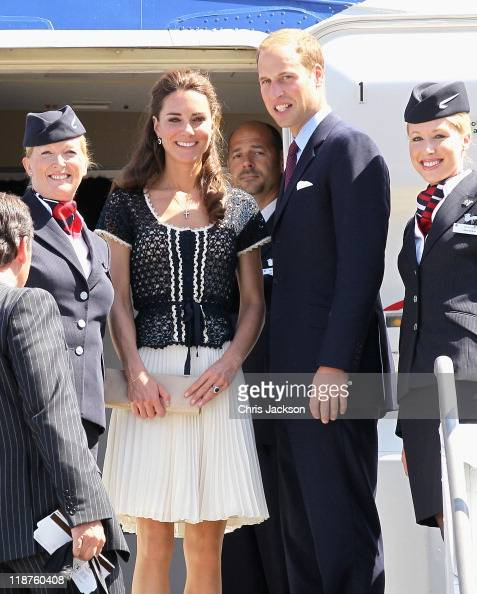 Prince William Duke of Cambridge and Catherine Duchess of Cambridge depart LAX airport on a British Airways scheduled flight on July 10 2011 inLos...