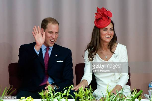 Prince William Duke of Cambridge and Catherine Duchess of Cambridge attend Canada Day Celebrations at Parliament Hill on day 2 of the Royal Couple's...