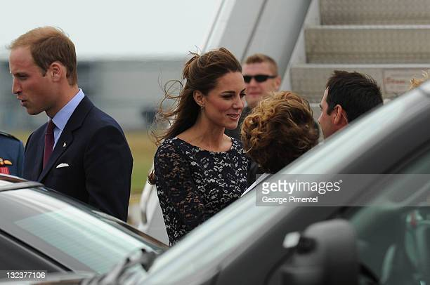 Prince William Duke of Cambridge and Catherine Duchess of Cambridge arrive at the Canada Reception Centre Ottawa MacdonaldCartier International...