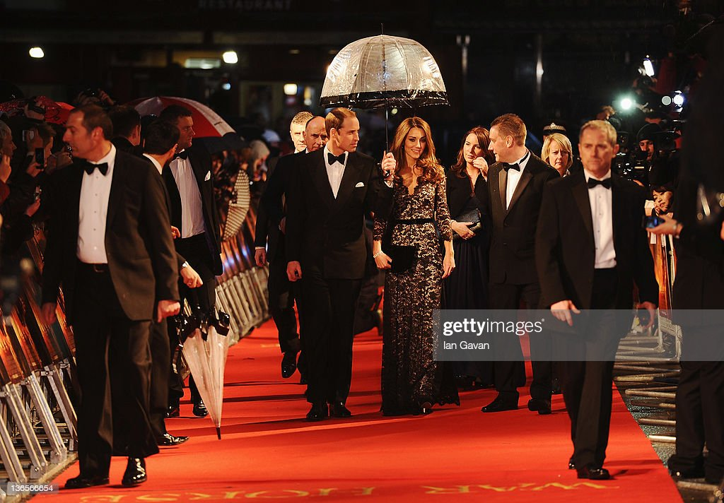 <a gi-track='captionPersonalityLinkClicked' href=/galleries/search?phrase=Prince+William&family=editorial&specificpeople=178205 ng-click='$event.stopPropagation()'>Prince William</a>, Duke of Cambridge and <a gi-track='captionPersonalityLinkClicked' href=/galleries/search?phrase=Catherine+-+Duchess+of+Cambridge&family=editorial&specificpeople=542588 ng-click='$event.stopPropagation()'>Catherine</a>, Duchess of Cambridge attend the UK premiere of War Horse at the Odeon Leicester Square on January 8, 2012 in London, England.