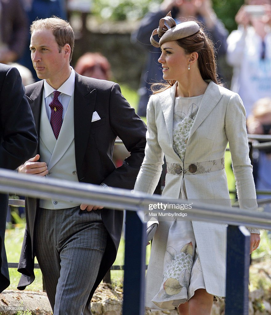 <a gi-track='captionPersonalityLinkClicked' href=/galleries/search?phrase=Prince+William&family=editorial&specificpeople=178205 ng-click='$event.stopPropagation()'>Prince William</a>, Duke of Cambridge and <a gi-track='captionPersonalityLinkClicked' href=/galleries/search?phrase=Catherine+-+Duchess+of+Cambridge&family=editorial&specificpeople=542588 ng-click='$event.stopPropagation()'>Catherine</a>, Duchess of Cambridge attend the wedding of Emily McCorquodale and James Hutt at The Church of St Andrew and St Mary, Stoke Rochford on June 9, 2012 in Grantham, England.