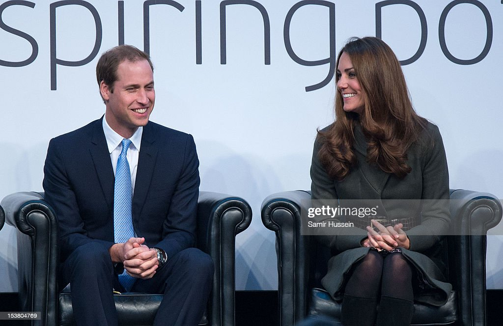 <a gi-track='captionPersonalityLinkClicked' href=/galleries/search?phrase=Prince+William&family=editorial&specificpeople=178205 ng-click='$event.stopPropagation()'>Prince William</a>, Duke of Cambridge and <a gi-track='captionPersonalityLinkClicked' href=/galleries/search?phrase=Catherine+-+Duchess+of+Cambridge&family=editorial&specificpeople=542588 ng-click='$event.stopPropagation()'>Catherine</a>, Duchess of Cambridge officially launch the Football Association's National Football Centre at St George's Park on October 9, 2012 in Burton-upon-Trent, England.