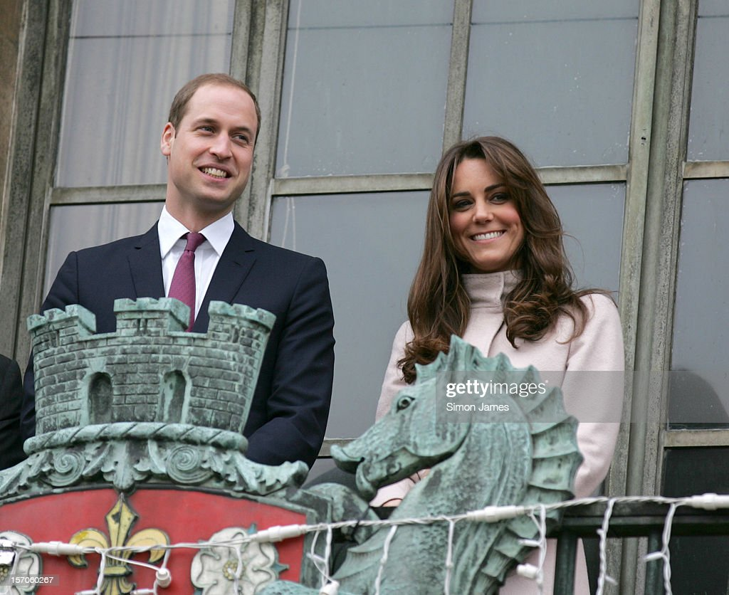 <a gi-track='captionPersonalityLinkClicked' href=/galleries/search?phrase=Prince+William&family=editorial&specificpeople=178205 ng-click='$event.stopPropagation()'>Prince William</a>, Duke of Cambridge and <a gi-track='captionPersonalityLinkClicked' href=/galleries/search?phrase=Catherine+-+Duchess+of+Cambridge&family=editorial&specificpeople=542588 ng-click='$event.stopPropagation()'>Catherine</a>, Duchess of Cambridge on the balcony of Cambridge Guildhall as they pay an official visit to Cambridge on November 28, 2012 in Cambridge, England.