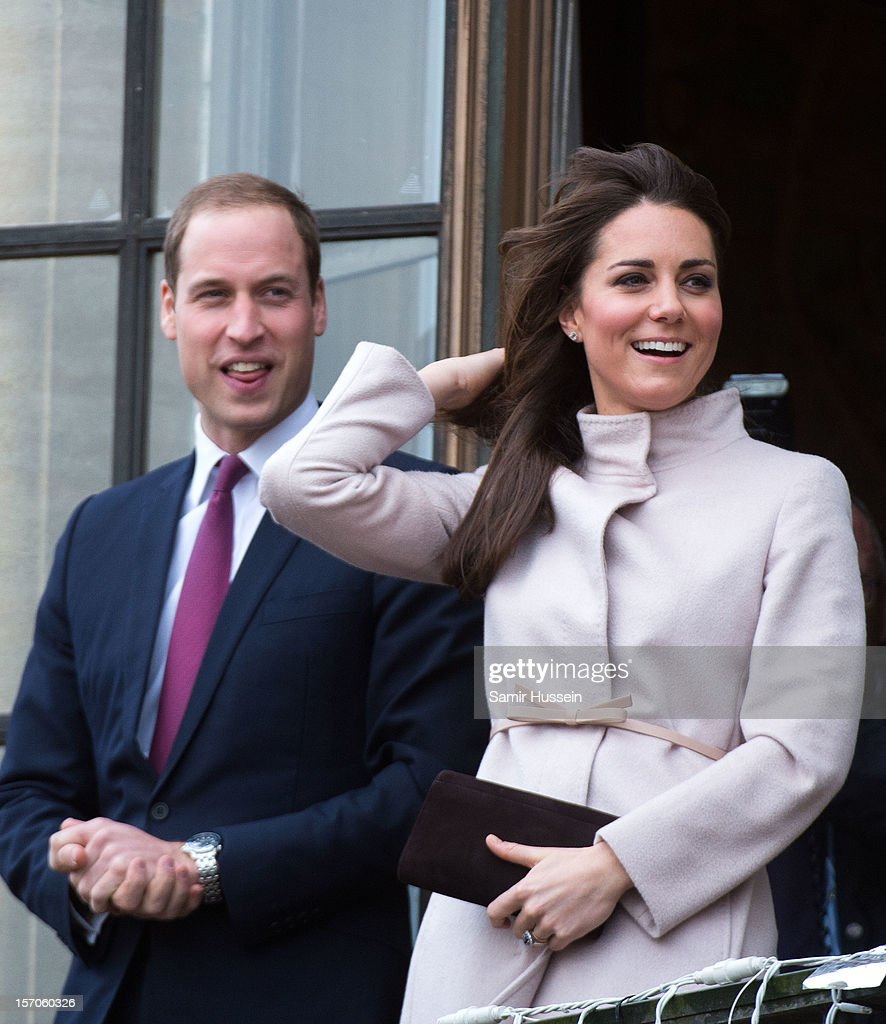 Prince William, Duke of Cambridge and Catherine, Duchess of Cambridge make an official visit to the Guildhall on November 28, 2012 in Cambridge, England.