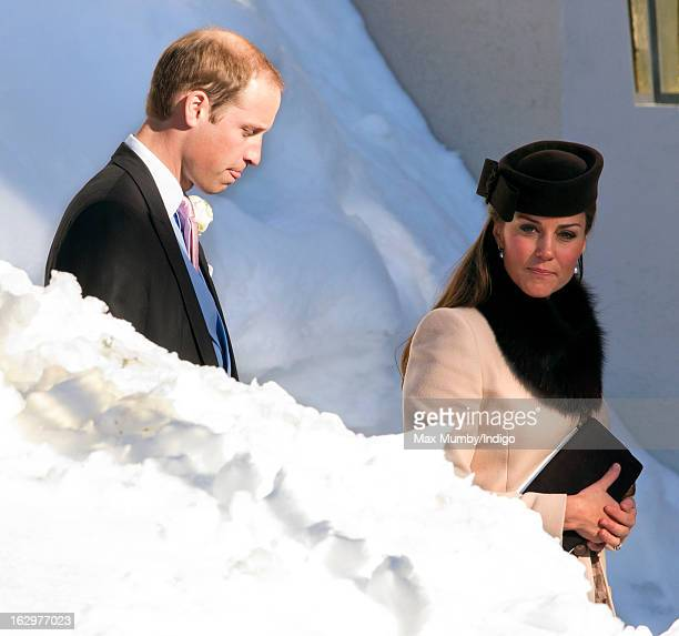 Prince William Duke of Cambridge and Catherine Duchess of Cambridge attend the wedding of Laura Bechtolsheimer and Mark Tomlinson at the Protestant...