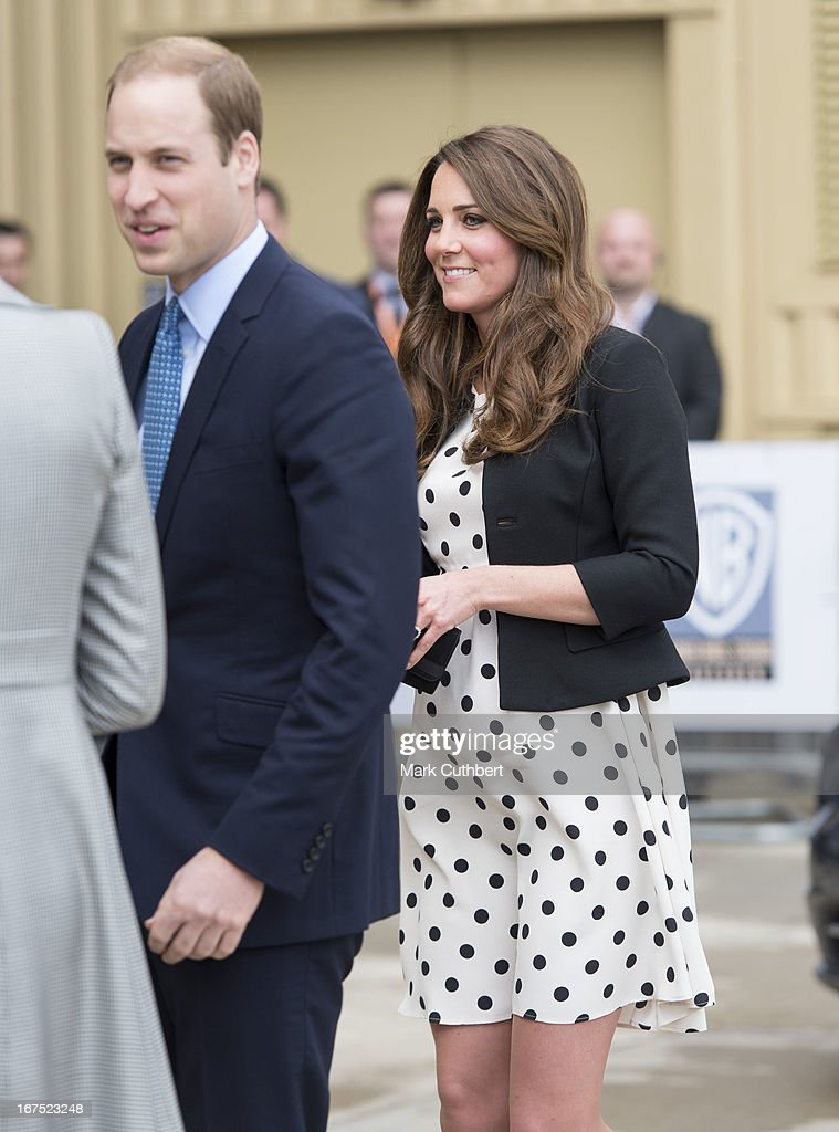 <a gi-track='captionPersonalityLinkClicked' href=/galleries/search?phrase=Prince+William&family=editorial&specificpeople=178205 ng-click='$event.stopPropagation()'>Prince William</a>, Duke Of Cambridge and Catherine, Duchess of Cambridge attend the Inauguration Of Warner Bros. Studios Leavesden on April 26, 2013 in Watford, England.