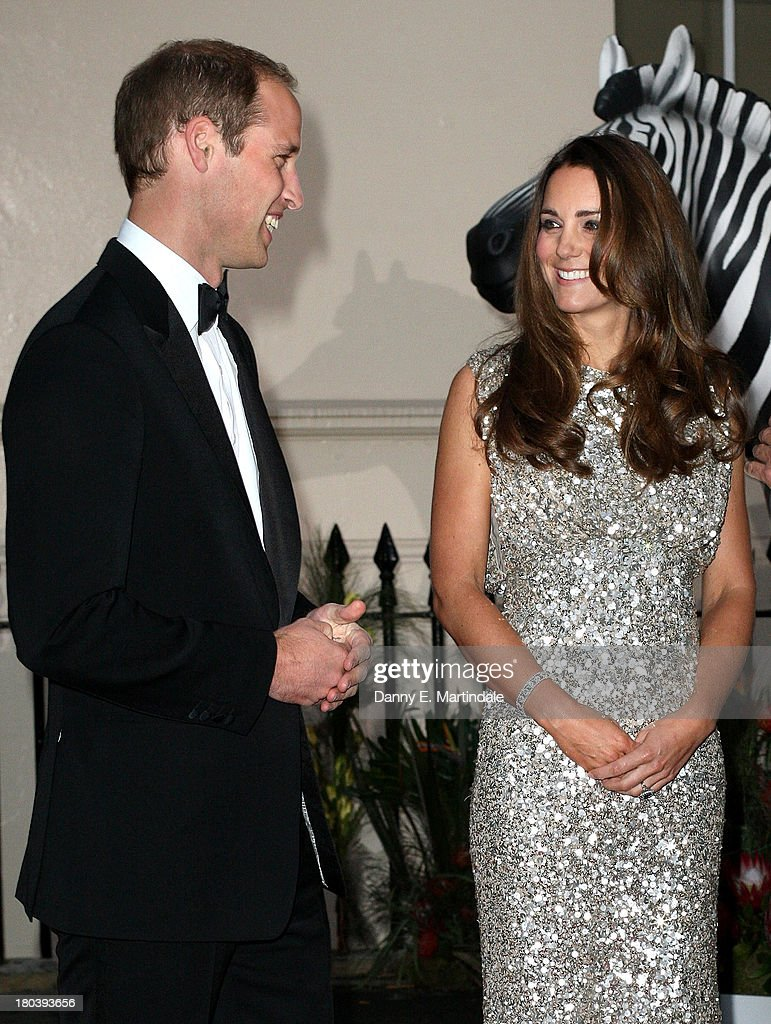 Prince William, Duke of Cambridge and <a gi-track='captionPersonalityLinkClicked' href=/galleries/search?phrase=Catherine+-+Herzogin+von+Cambridge&family=editorial&specificpeople=542588 ng-click='$event.stopPropagation()'>Catherine</a>, Duchess of Cambridge attend the Tusk Conservation Awards at The Royal Society on September 12, 2013 in London, England.