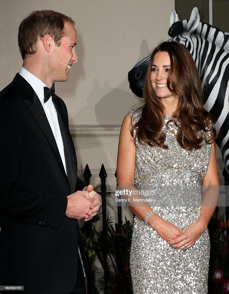 Prince William, Duke of Cambridge and <a gi-track='captionPersonalityLinkClicked' href=/galleries/search?phrase=Catherine+-+Hertiginna+av+Cambridge&family=editorial&specificpeople=542588 ng-click='$event.stopPropagation()'>Catherine</a>, Duchess of Cambridge attend the Tusk Conservation Awards at The Royal Society on September 12, 2013 in London, England.
