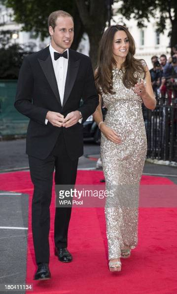 Prince William Duke of Cambridge and Catherine Duchess of Cambridge attend The Tusk Conservation Awards at The Royal Society on September 12 2013 in...
