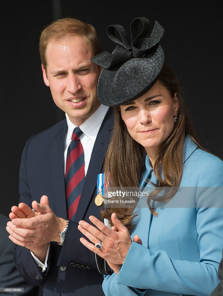 Prince William, Duke of Cambridge and Catherine, Duchess of Cambridge attend a Commemoration of the 70th anniversary of the Normandy Landings at Gold Beach on June 6, 2014 in Arromanches Les Bains, France.