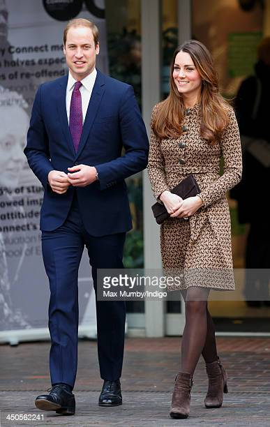 Prince William Duke of Cambridge and Catherine Duchess of Cambridge visit Only Connect and exoffenders projects on November 19 2013 in London England