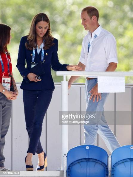 Prince William Duke of Cambridge and Catherine Duchess of Cambridge arrive to watch the Wales v Scotland Hockey match at the Glasgow National Hockey...