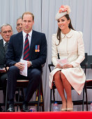 Prince William Duke of Cambridge and Catherine Duchess of Cambridge at Saint Laurent Abbey for a ceremony to mark 100th anniversary of World War 1 on...