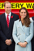Prince William Duke of Cambridge and Catherine Duchess of Cambridge pose as they visit Pembroke Refinery on November 8 2014 in Pembroke Wales