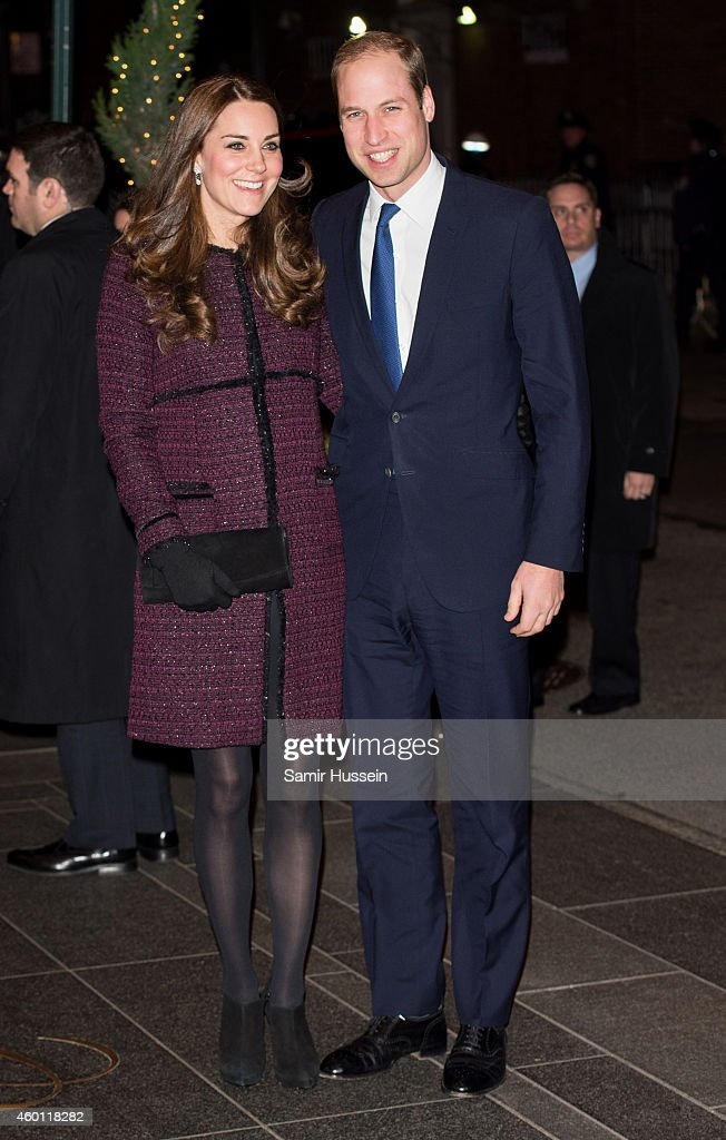 Prince William, Duke of Cambridge and Catherine, Duchess of Cambridge arrive at The Carlyle Hotel, where they will be staying during their official two-day visit to the United States, on December 7, 2014 in New York City.