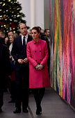 Prince William Duke of Cambridge and Catherine Duchess of Cambridge tour the lobby of the One Worlds Trade Center after a visit the National...