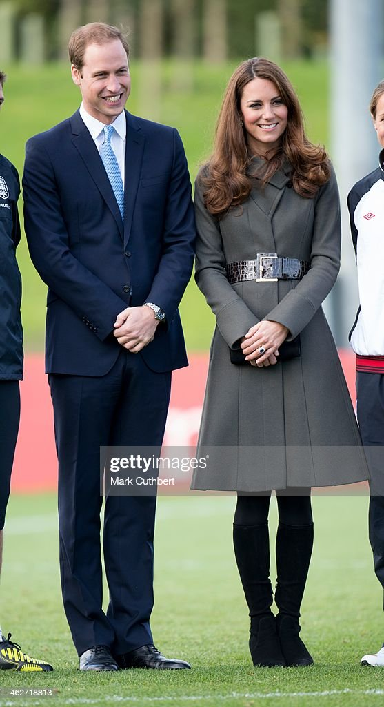 Prince William, Duke of Cambridge and Catherine, Duchess of Cambridge attend the official launch of The Football Association's National Football Centre at St George's Park on October 9, 2012 in Burton, England.