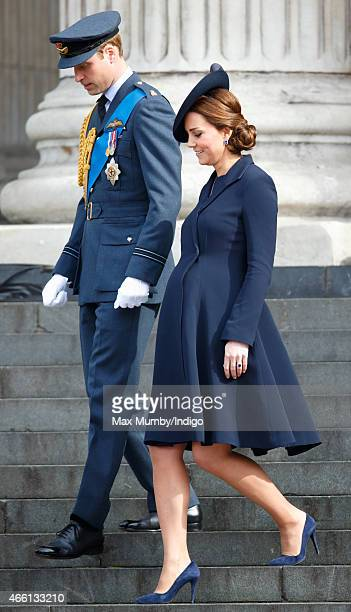 Prince William Duke of Cambridge and Catherine Duchess of Cambridge attend a Service of Commemoration to mark the end of combat operations in...