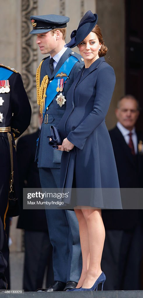 Prince William, Duke of Cambridge and Catherine, Duchess of Cambridge attend a Service of Commemoration to mark the end of combat operations in Afghanistan at St Paul's Cathedral on March 13, 2015 in London, England.