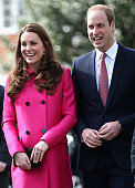 Prince William Duke of Cambridge and Catherine Duchess of Cambridge arrive at the XLP Mobile recording Studio on March 27 2015 in London England