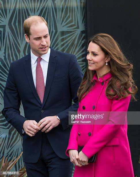 Prince William Duke of Cambridge and Catherine Duchess of Cambridge visit the Stephen Lawrence Centre on March 27 2015 in London England