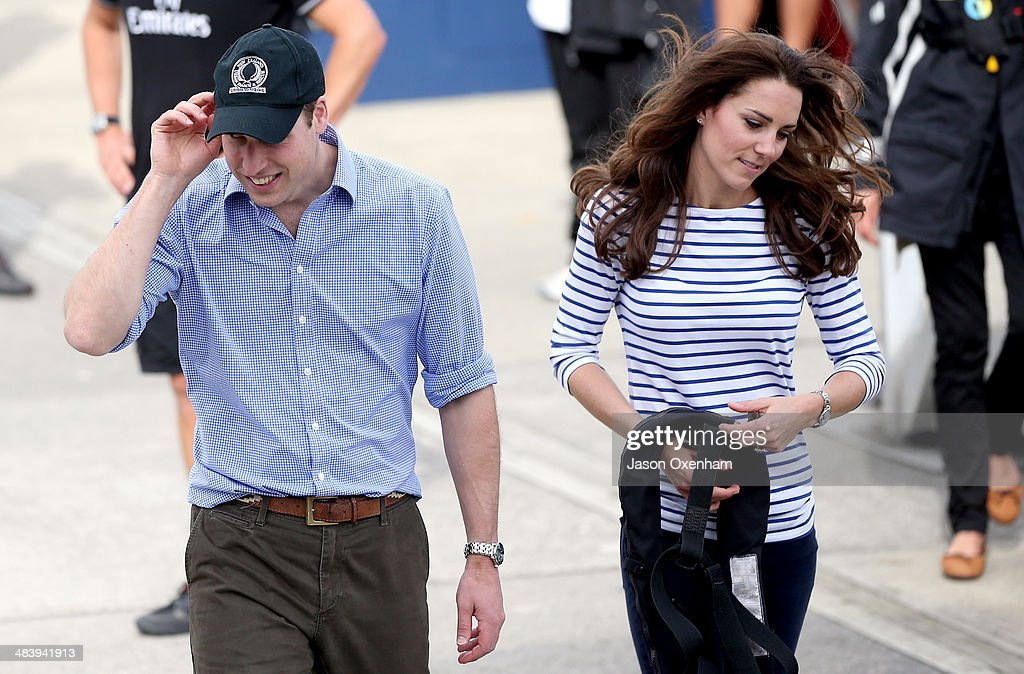 Prince William Duke of Cambridge and Catherine Duchess of Cambridge back at the Viaduct Basin after they competed in a series of races on the...
