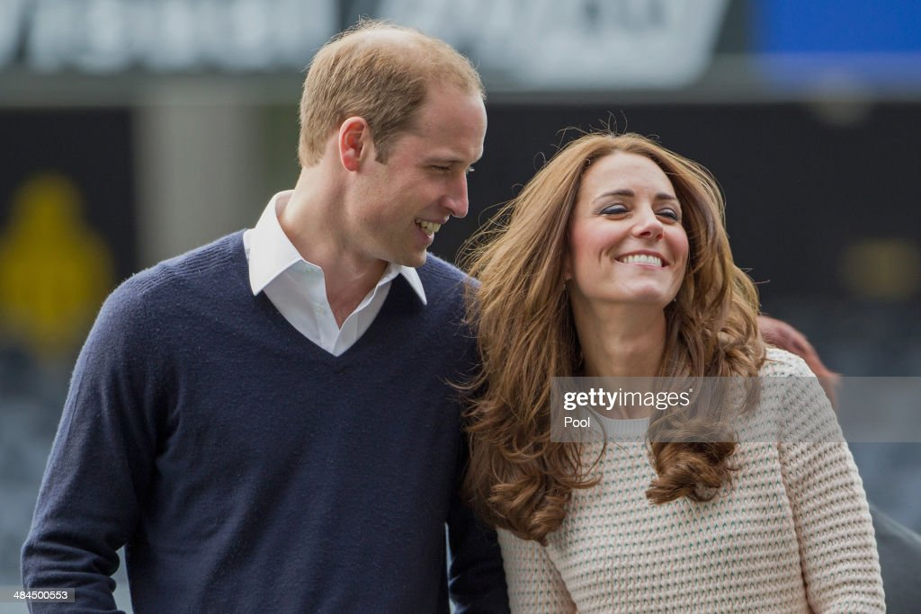 Prince William Duke of Cambridge and Catherine Duchess of Cambridge attend 'Rippa Rugby' in the Forstyth Barr Stadium on day 7 of a Royal Tour to New...