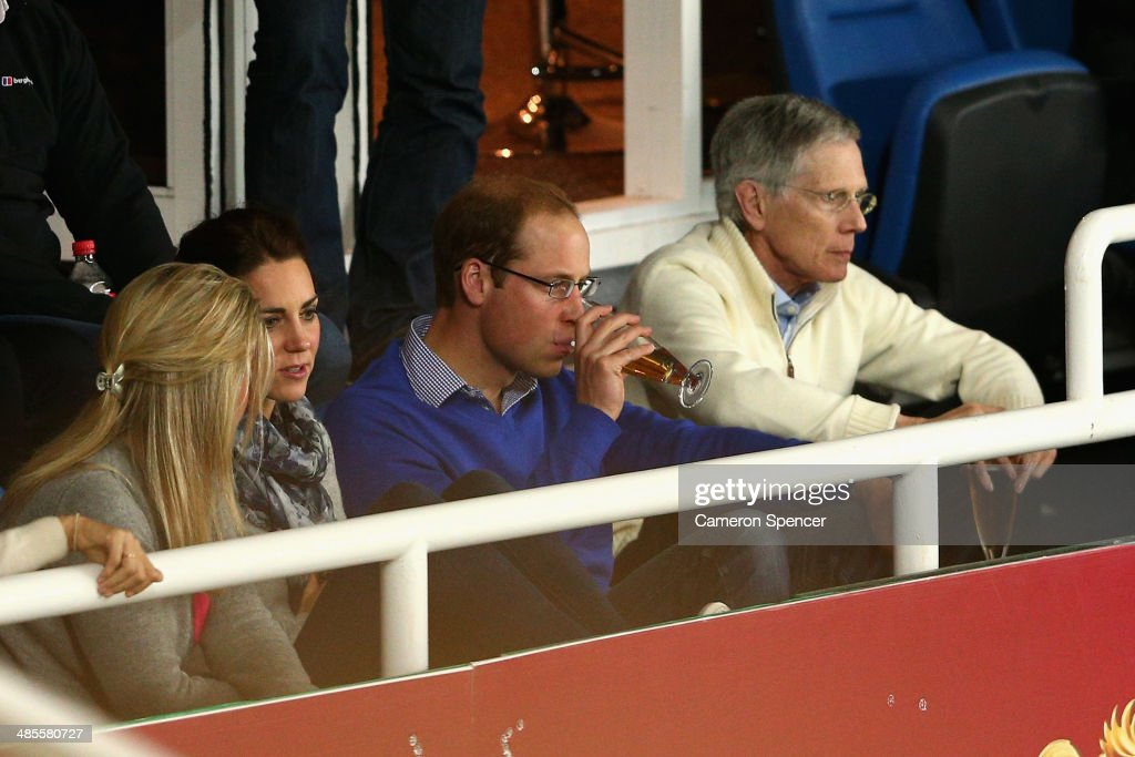 <a gi-track='captionPersonalityLinkClicked' href=/galleries/search?phrase=Prince+William&family=editorial&specificpeople=178205 ng-click='$event.stopPropagation()'>Prince William</a>, Duke of Cambridge and <a gi-track='captionPersonalityLinkClicked' href=/galleries/search?phrase=Catherine+-+Duchess+of+Cambridge&family=editorial&specificpeople=542588 ng-click='$event.stopPropagation()'>Catherine</a>, Duchess of Cambridge watch the round 10 Super Rugby match between the Waratahs and the Bulls at Allianz Stadium on April 19, 2014 in Sydney, Australia.