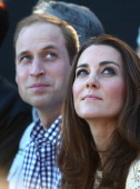 Prince William Duke of Cambridge and Catherine Duchess of Cambridge observe a Bird Show at Taronga Zoo on April 20 2014 in Sydney Australia The Duke...