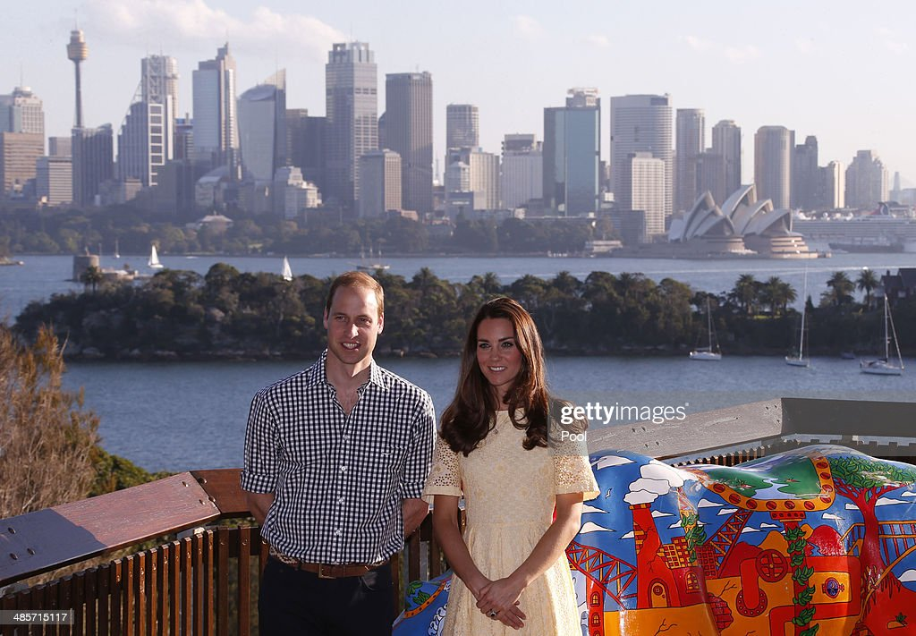 <a gi-track='captionPersonalityLinkClicked' href=/galleries/search?phrase=Prince+William&family=editorial&specificpeople=178205 ng-click='$event.stopPropagation()'>Prince William</a>, Duke of Cambridge and Catherine, Duchess of Cambridge watch a bird display at Taronga Zoo on April 20, 2014 in Sydney, Australia. The Duke and Duchess of Cambridge are on a three-week tour of Australia and New Zealand, the first official trip overseas with their son, Prince George of Cambridge.