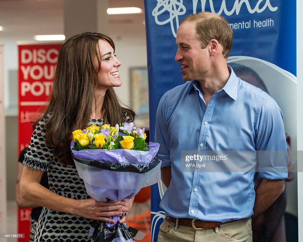 Prince William, Duke of Cambridge and Catherine, Duchess of Cambridge attend an event hosted by Mind, at Harrow College to mark World Mental Health Day on October 10, 2015 in Harrow, England.