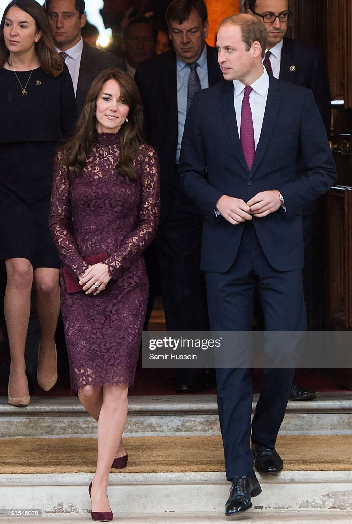 Prince William Duke of Cambridge and Catherine Duchess of Cambridge attend a creative industry event to celebrate cultural collaboration between the...
