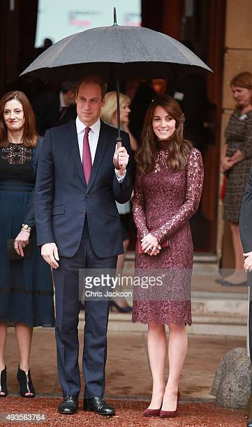 Prince William Duke of Cambridge and Catherine Duchess of Cambridge bid farewell to President of the Peoples Republic of China Mr Xi Jinping and his...