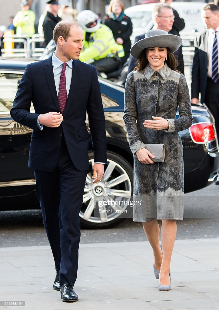 Prince William, Duke of Cambridge and Catherine, Duchess of Cambridge attend the Commonwealth Observance Day Service on March 14, 2016 in London, United Kingdom. The service is the largest annual inter-faith gathering in the United Kingdom and will celebrate the Queen's 90th birthday. Kofi Annan and Ellie Goulding will take part in the service.