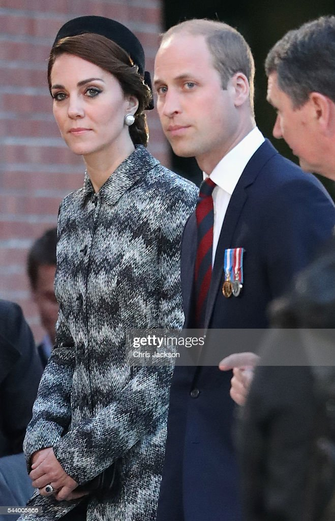 <a gi-track='captionPersonalityLinkClicked' href=/galleries/search?phrase=Prince+William&family=editorial&specificpeople=178205 ng-click='$event.stopPropagation()'>Prince William</a>, Duke of Cambridge and Catherine, Duchess of Cambridge take part in a vigil at Thiepval Memorial to the Missing of the Somme during Somme Centenary Commemorations on June 30, 2016 in Thiepval, France.