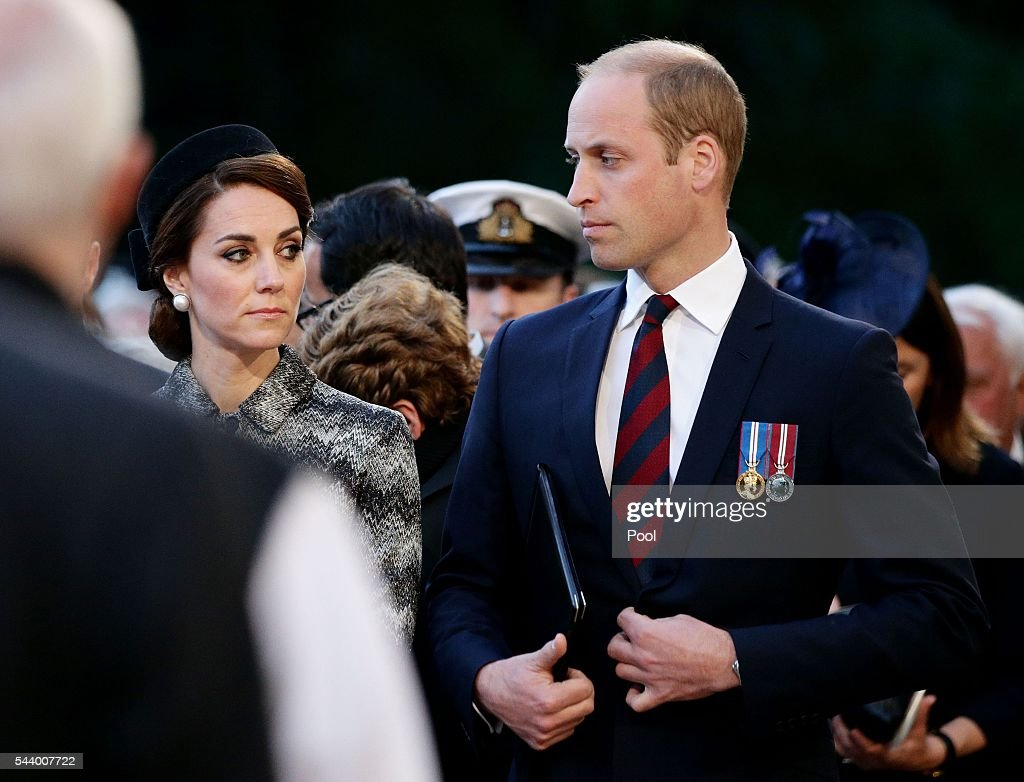 <a gi-track='captionPersonalityLinkClicked' href=/galleries/search?phrase=Prince+William&family=editorial&specificpeople=178205 ng-click='$event.stopPropagation()'>Prince William</a>, Duke of Cambridge and Catherine, Duchess of Cambridge attend part of a military-led vigil to commemorate the 100th anniversary of the beginning of the Battle of the Somme at the Thiepval memorial to the Missing in June 30, 2016 in Thiepval, France. The event is part of the Commemoration of the Centenary of the Battle of the Somme at the Commonwealth War Graves Commission Thiepval Memorial in Thiepval, France, where 70,000 British and Commonwealth soldiers with no known grave are commemorated.