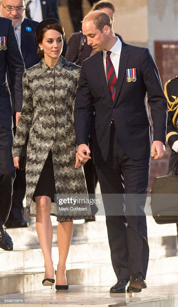 <a gi-track='captionPersonalityLinkClicked' href=/galleries/search?phrase=Prince+William&family=editorial&specificpeople=178205 ng-click='$event.stopPropagation()'>Prince William</a>, Duke of Cambridge and Catherine, Duchess of Cambridge attend a Vigil at The Commonwealth War Graves Commission Thiepval Memorial for the Commemoration of theÊCentenary of The Battle of the Somme on June 30, 2016 in Albert, France.
