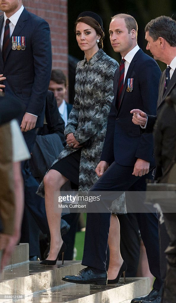 <a gi-track='captionPersonalityLinkClicked' href=/galleries/search?phrase=Prince+William&family=editorial&specificpeople=178205 ng-click='$event.stopPropagation()'>Prince William</a>, Duke of Cambridge and Catherine, Duchess of Cambridge attend a Vigil at The Commonwealth War Graves Commission Thiepval Memorial for the Commemoration of the Centenary of The Battle of the Somme on June 30, 2016 in Albert, France.