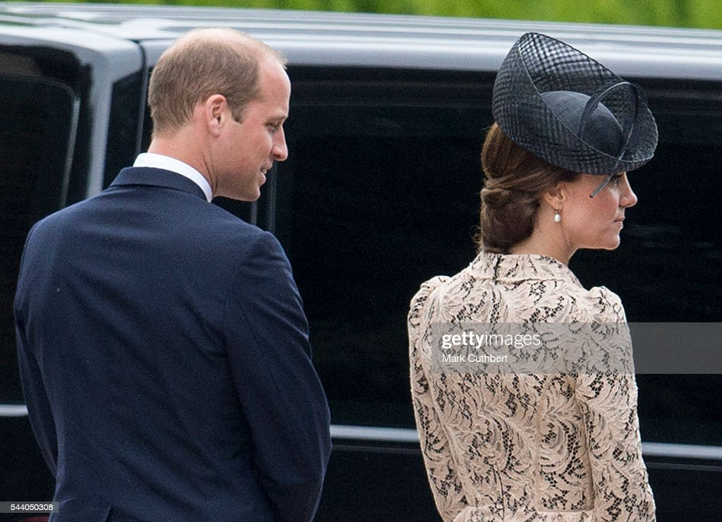 <a gi-track='captionPersonalityLinkClicked' href=/galleries/search?phrase=Prince+William&family=editorial&specificpeople=178205 ng-click='$event.stopPropagation()'>Prince William</a>, Duke of Cambridge and Catherine, Duchess of Cambridge attend a Commemoration of the Centenary of the Battle of the Somme at The Commonwealth War Graves Commission Thiepval Memorial on July 01, 2016 in Thiepval, France.