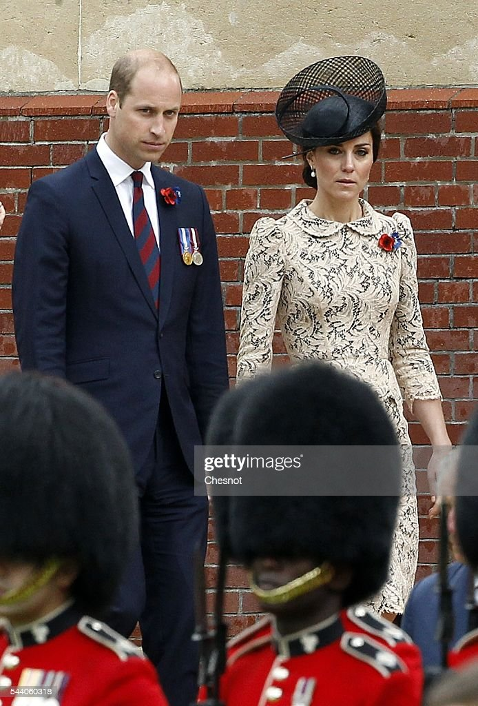 <a gi-track='captionPersonalityLinkClicked' href=/galleries/search?phrase=Prince+William&family=editorial&specificpeople=178205 ng-click='$event.stopPropagation()'>Prince William</a>, Duke of Cambridge and Catherine, Duchess of Cambridge during Somme Centenary Commemorations on July 1, 2016 in Thiepval, France. Today marks exactly 100 years since the beginning of the battle of the Somme.