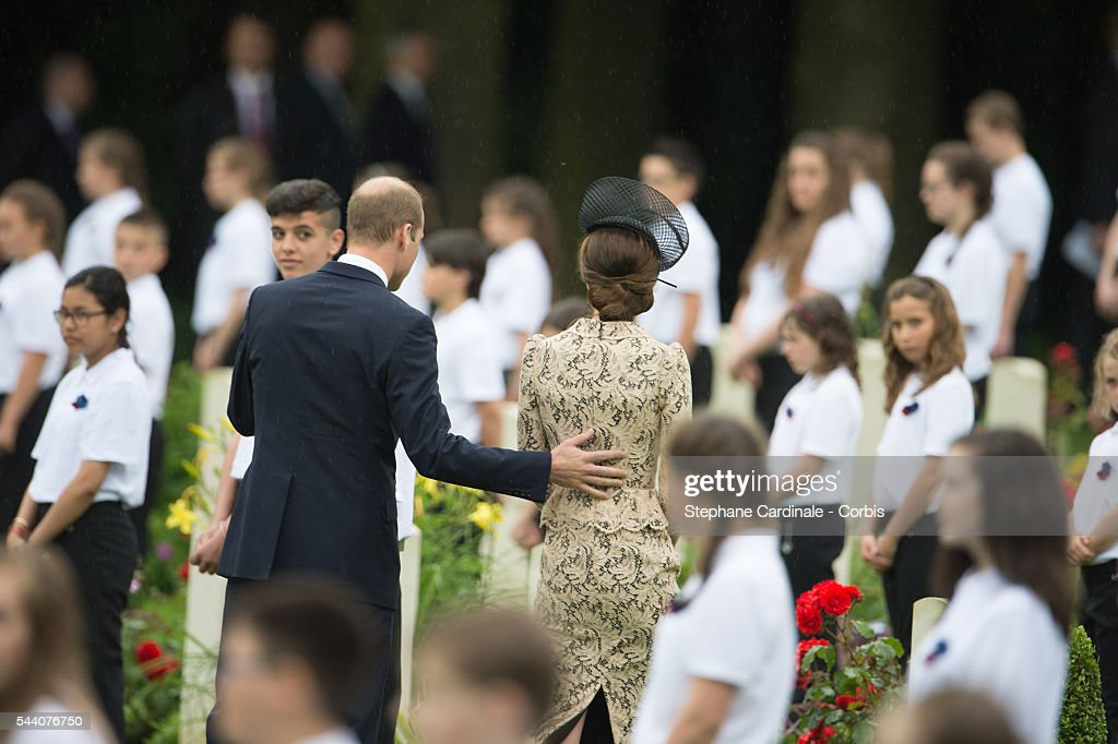<a gi-track='captionPersonalityLinkClicked' href=/galleries/search?phrase=Prince+William&family=editorial&specificpeople=178205 ng-click='$event.stopPropagation()'>Prince William</a>, Duke of Cambridge and Catherine, Duchess of Cambridge during the Commemoration of the Centenary of the Battle of the Somme at the Commonwealth War Graves Commission Thiepval Memorial on July 1, 2016 in Thiepval, France.