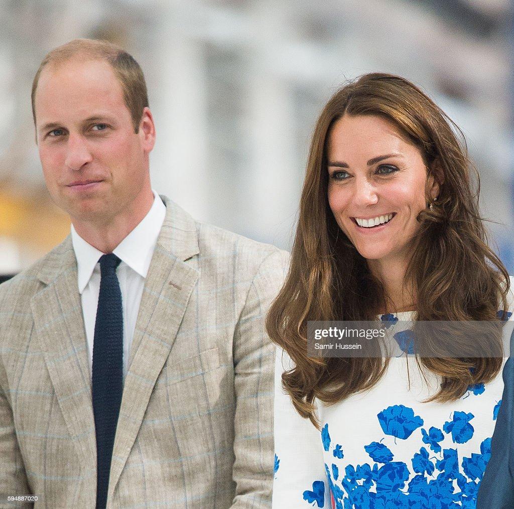 Prince William Duke of Cambridge and Catherine Duchess of Cambridge visit Hayward Tyler Luton on August 24 2016 in Luton England