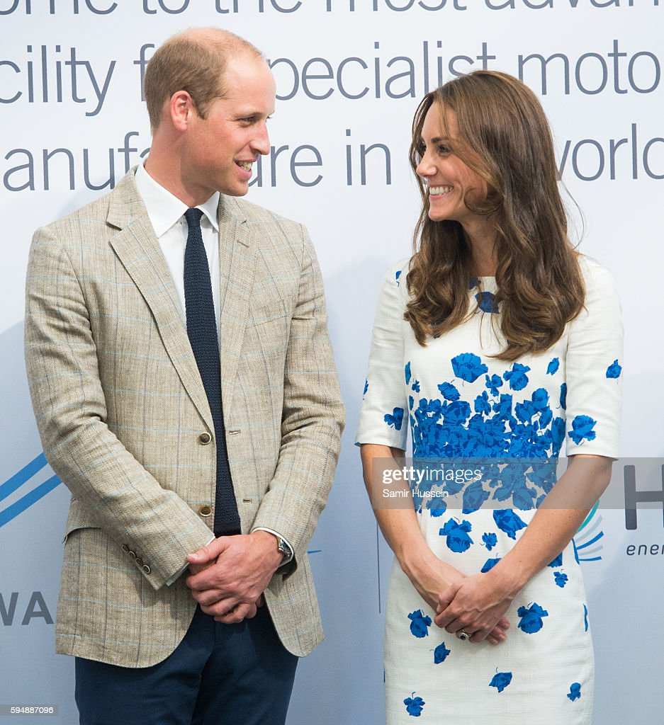 Prince William Duke of Cambridge and Catherine Duchess of Cambridge visit Hayward Tyler Luton on August 24 2016 in Luton England