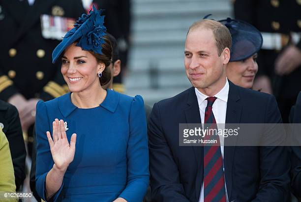 Prince William Duke of Cambridge and Catherine Duchess of Cambridge attend the Official Welcome Ceremony for the Royal Tour at the British Columbia...
