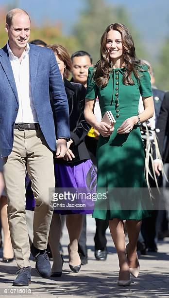 Prince William Duke of Cambridge and Catherine Duchess of Cambridge visit Kelowna University during their Royal Tour of Canada on September 27 2016...