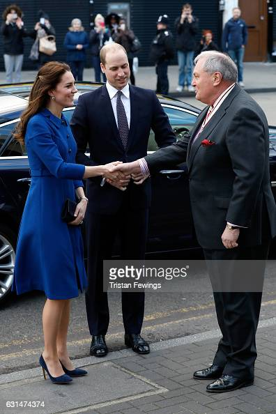 Prince William Duke of Cambridge and Catherine Duchess of Cambridge visit a Child Bereavement UK Centre at CBUK Stratford on January 11 2017 in...